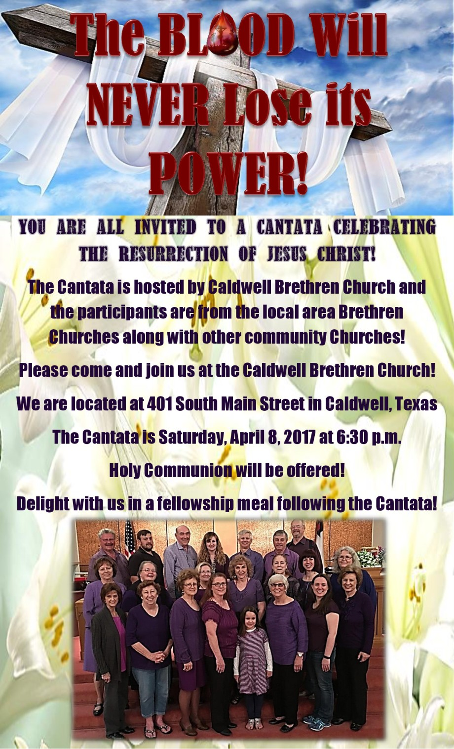 final flyer for Easter Cantata 2017